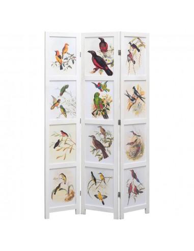 Kambario pertvara, 3 d., baltos sp., 105x165 cm, su paukščiais   Kambario Pertvaros   duodu.lt
