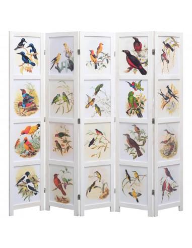 Kambario pertvara, 5 d., baltos sp., 175x165 cm, su paukščiais | Kambario Pertvaros | duodu.lt