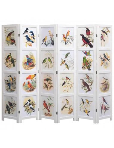 Kambario pertvara, 6 d., baltos sp., 210x165 cm, su paukščiais   Kambario Pertvaros   duodu.lt