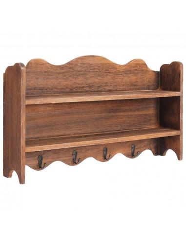 Prie sienos montuojama kabykla, ruda, 50x10x30cm, mediena | Kabyklos Paltams ir Skrybėlėms | duodu.lt