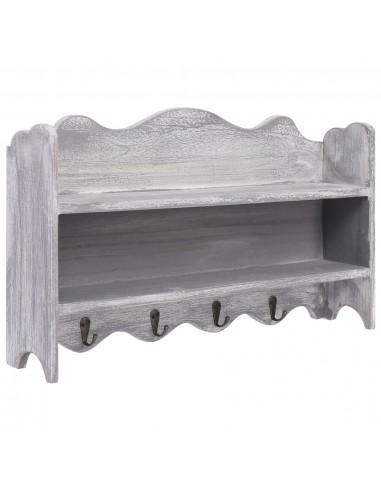 Prie sienos montuojama kabykla, pilka, 50x10x30cm, mediena | Kabyklos Paltams ir Skrybėlėms | duodu.lt