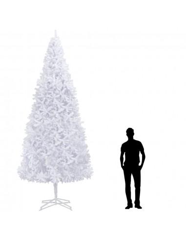 Dirbtinė Kalėdų eglutė, balta, 400 cm  | Šventiniai papuošimai | duodu.lt