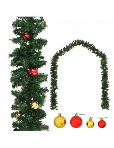 Kalėdinė girlianda papuošta žaisliukais, 10 m | Šventiniai papuošimai | duodu.lt