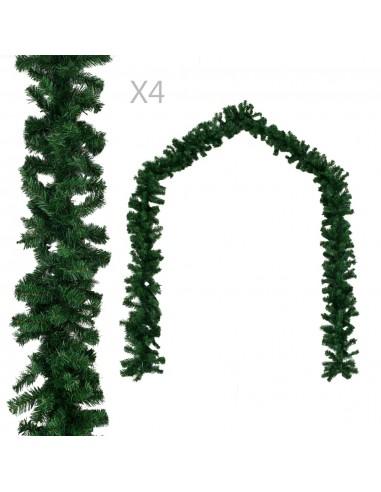 Kalėdinės girliandos, 4 vnt. žalios spalvos, 270 cm, PVC | Šventiniai papuošimai | duodu.lt