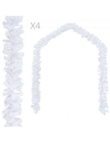 Kalėdinės girliandos, 4 vnt. baltos spalvos, 270 cm, PVC   Šventiniai papuošimai   duodu.lt