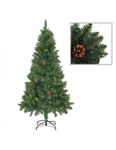 Dirbtinė kalėdinė eglutė su kankorėžiais, žalios sp., 150cm  | Šventiniai papuošimai | duodu.lt