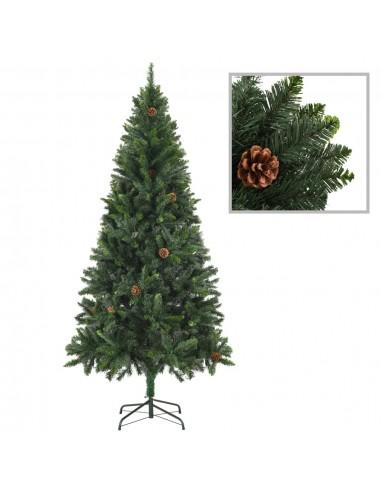 Dirbtinė kalėdinė eglutė su kankorėžiais, žalios sp., 180 cm  | Šventiniai papuošimai | duodu.lt