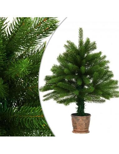 Dirbtinė Kalėdų eglutė, žalia, 65cm, tikrų spyglių imitacija   Šventiniai papuošimai   duodu.lt