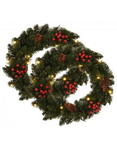 Kalėdiniai vainikai, 2vnt., žalios sp., 45cm, su papuošimais   Šventiniai papuošimai   duodu.lt