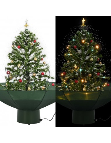 Kalėdų eglutė su sniego fun. ir skėč. form. pagr., žalia, 75cm | Šventiniai papuošimai | duodu.lt