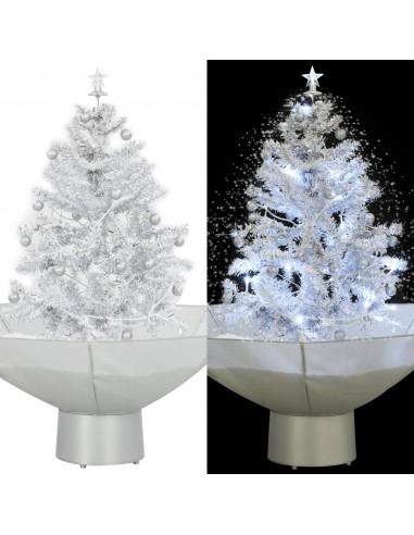 Kalėdų eglutė su sniego fun. ir skėč. form. pagr., balta, 75cm   Šventiniai papuošimai   duodu.lt