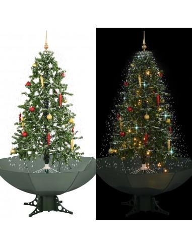Kalėdų eglutė su sniego fun. ir skėč. form. pagr., žalia, 170cm   Šventiniai papuošimai   duodu.lt