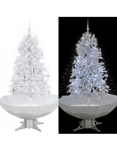 Kalėdų eglutė su sniego fun. ir skėč. form. pagr., balta, 170cm   Šventiniai papuošimai   duodu.lt