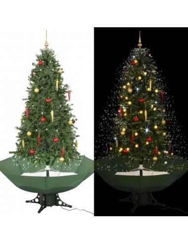 Kalėdų eglutė su sniego fun. ir skėč. form. pagr., žalia, 190cm   Šventiniai papuošimai   duodu.lt