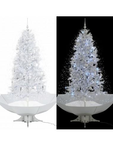 Kalėdų eglutė su sniego fun. ir skėč. form. pagr., balta, 190cm | Šventiniai papuošimai | duodu.lt