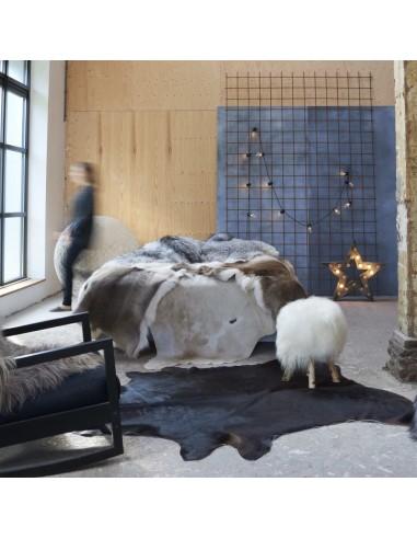 Natūralios karvės odos kilimas, juodos spalvos, 150x170cm | Kilimėliai | duodu.lt