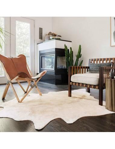 Natūralios karvės odos kilimas, smėlio spalvos, 150x170cm   Kilimėliai   duodu.lt
