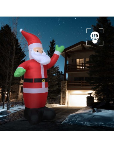 Pripučiamas Kalėdų Senelis, LED, IP44, 600 cm, XXL | Šventiniai papuošimai | duodu.lt