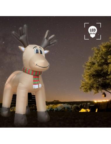 Pripučiamas Kalėdinis šiaurės elnias, LED, IP44, 500 cm, XXL | Šventiniai papuošimai | duodu.lt