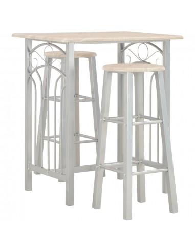 Baro baldų komplektas, 3 d., mediena ir plienas | Virtuvės ir Valgomojo Baldų Komplektai | duodu.lt