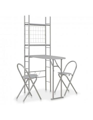 Sul. valg. baldų kompl. su lent., 3d., pilk. sp., MDF ir plien. | Virtuvės ir Valgomojo Baldų Komplektai | duodu.lt