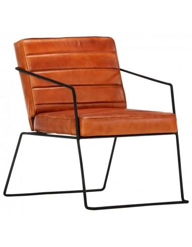 Krėslas, gelsvai rudos spalvos, tikra oda  | Foteliai, reglaineriai ir išlankstomi krėslai | duodu.lt