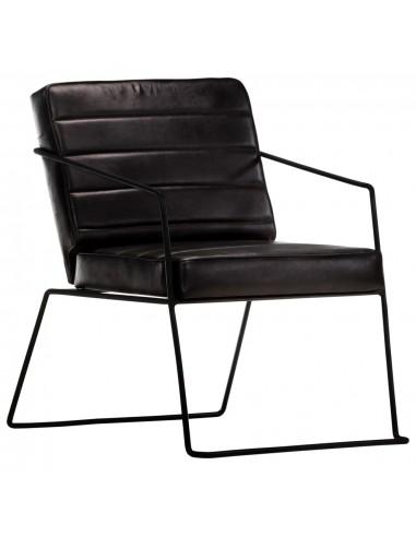 Krėslas, juodos spalvos, tikra oda | Foteliai, reglaineriai ir išlankstomi krėslai | duodu.lt