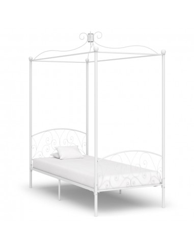 Lovos rėmas su baldakimu, baltos spalvos, 90x200cm, metalas | Lovos ir Lovų Rėmai | duodu.lt