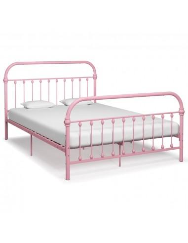 Lovos rėmas, rožinės spalvos, 160x200cm, metalas  | Lovos ir Lovų Rėmai | duodu.lt
