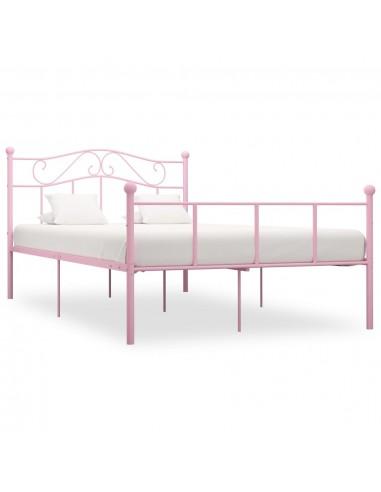 Lovos rėmas, rožinės spalvos, 140x200cm, metalas    Lovos ir Lovų Rėmai   duodu.lt