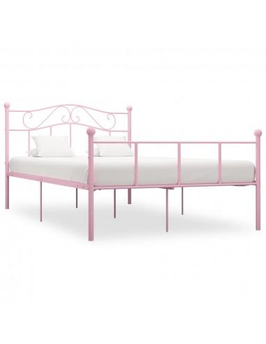 Lovos rėmas, rožinės spalvos, 160x200cm, metalas    Lovos ir Lovų Rėmai   duodu.lt