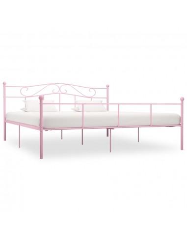 Lovos rėmas, rožinės spalvos, 200x200cm, metalas    Lovos ir Lovų Rėmai   duodu.lt