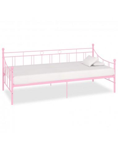 Lovos rėmas, rožinės spalvos, 90x200cm, metalas  | Lovos ir Lovų Rėmai | duodu.lt