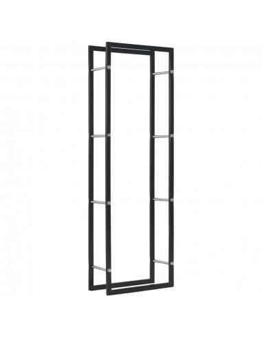 Stovas malkoms, juodos spalvos, 50x20x150 cm, plienas | Stovai ir Transportavimo Priemonės Malkoms | duodu.lt