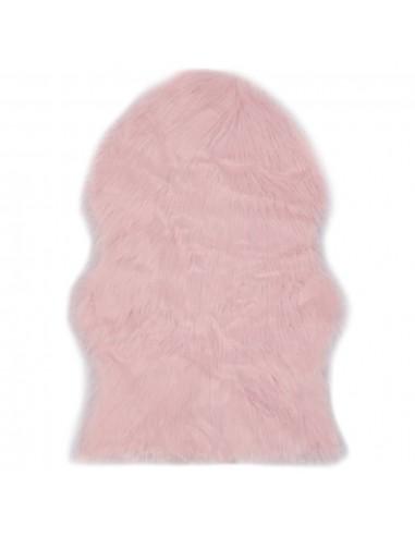 Kilimėlis, rožinės spalvos, 60x90 cm, dirbtinis avies kailis | Kilimėliai | duodu.lt