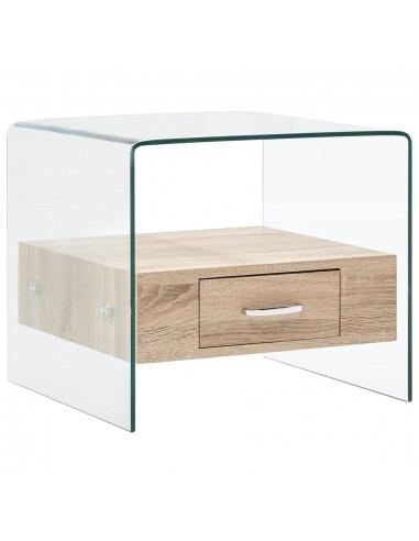Kavos staliukas su stalčiumi, 50x50x45cm, grūdintas stiklas  | Kavos Staliukai | duodu.lt