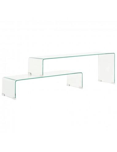 Kavos staliukų rinkinys, 2dalių, 90x30x20/110x30x40cm, stiklas  | Kavos Staliukai | duodu.lt