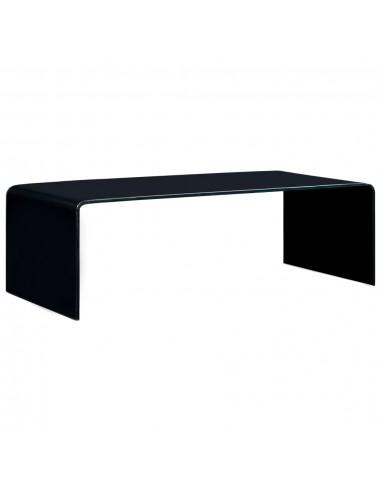 Kavos staliukas, juodos spalvos, 98x45x31cm, grūdintas stiklas    Kavos Staliukai   duodu.lt