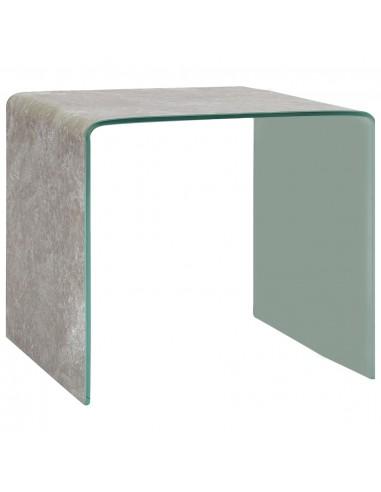 Kavos staliukas, rudas, 50x50x45cm, grūdintas stiklas    Kavos Staliukai   duodu.lt