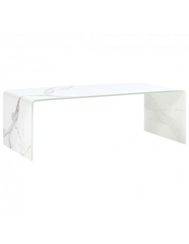 Kavos staliukas, bal. sp., 98x45x31cm, grūd. stik., marm. imit. | Kavos Staliukai | duodu.lt