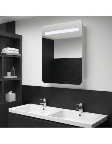 Veidrodinė vonios spintelė su LED apšvietimu, 60x11x80cm | Vonios Spintelės | duodu.lt