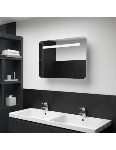 Veidrodinė vonios spintelė su LED apšvietimu, 80x11x55cm   Vonios Spintelės   duodu.lt
