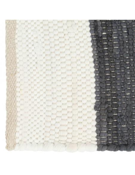 Modernus kilimas, zigzagų raštas, 120x170cm, rud./juod./mėl.   Kilimėliai   duodu.lt