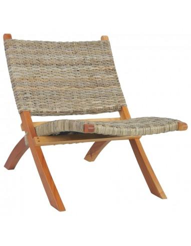 Poilsio kėdė, natūralus Kubu ratanas ir raudonmedžio masyvas | Foteliai, reglaineriai ir išlankstomi krėslai | duodu.lt