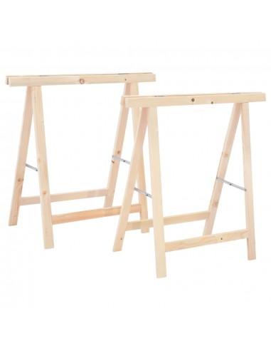 Sulankstomos pjovimo atramos, 2vnt., pušies mediena | Pjūklų stovai | duodu.lt