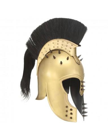 Graikijos kario šalmas, žalvario, plienas, antikvarinė kopija   Collectable Weapons   duodu.lt