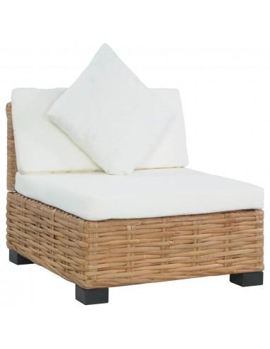 Sofa be porankių su pagalvėlėmis, natūralus ratanas | Lauko Sofos | duodu.lt