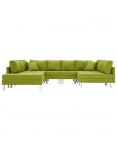 Trivietė sofa, vyno raudonos spalvos, audinys   Sofos   duodu.lt