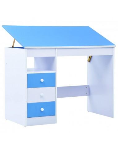 Vaikiškas piešimo stalas, mėlynas ir baltas, pakreipiamas | Braižybos stalai | duodu.lt