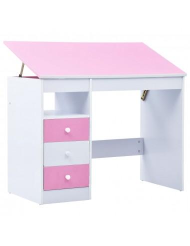 Vaikiškas piešimo stalas, rožinis ir baltas, pakreipiamas   Braižybos stalai   duodu.lt